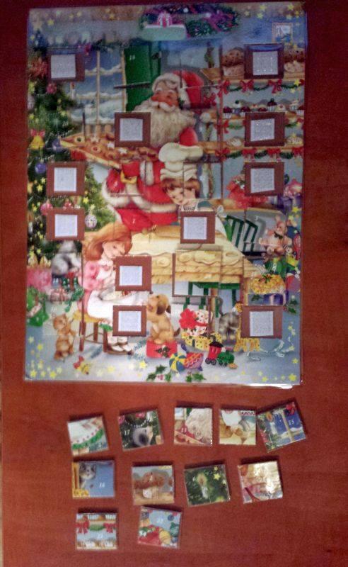 kalendarz adwentowy dla dzieci w formie puzzli