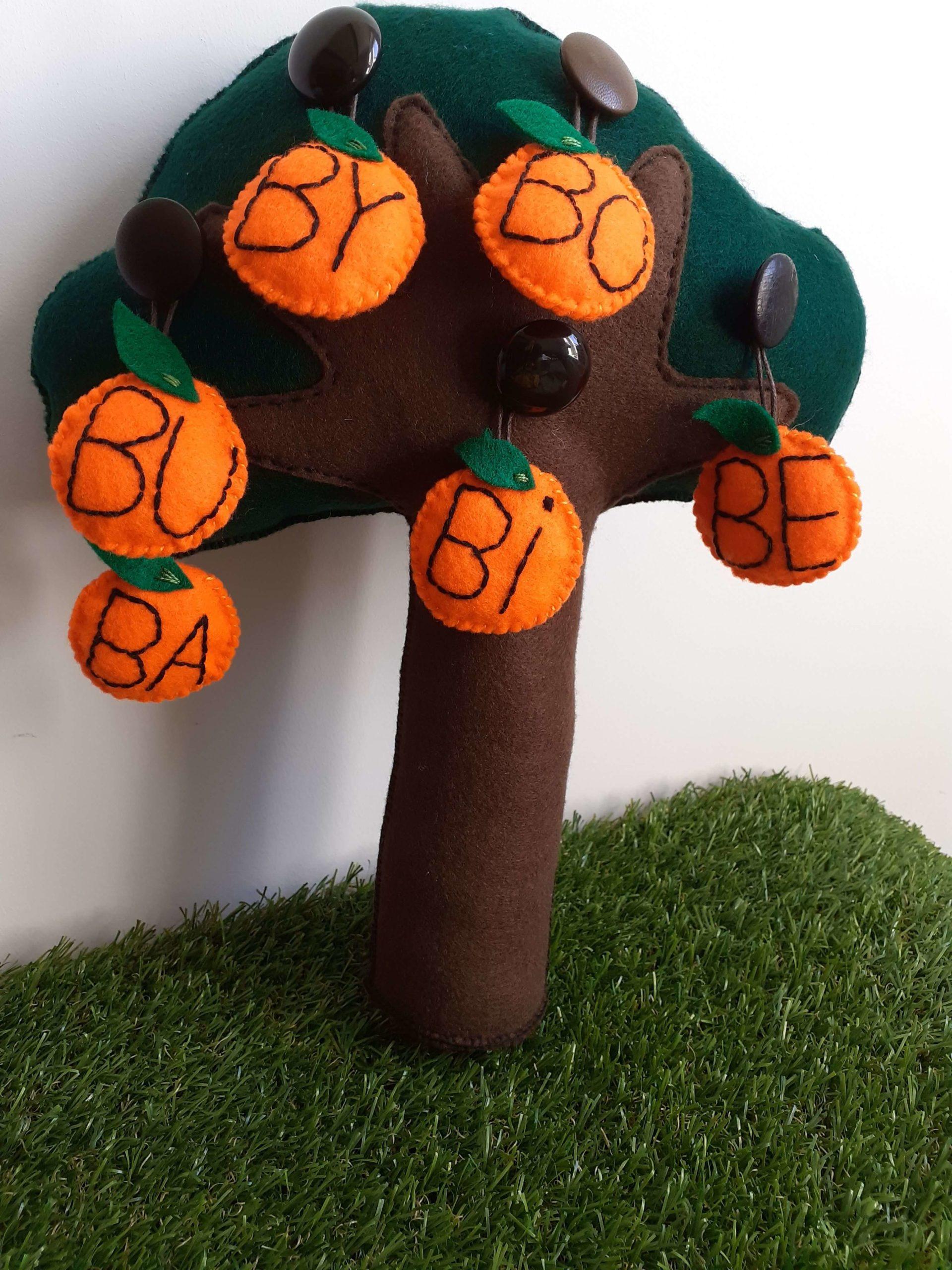 sylabowe drzewo i owoce z sylabami z paradygmatu B